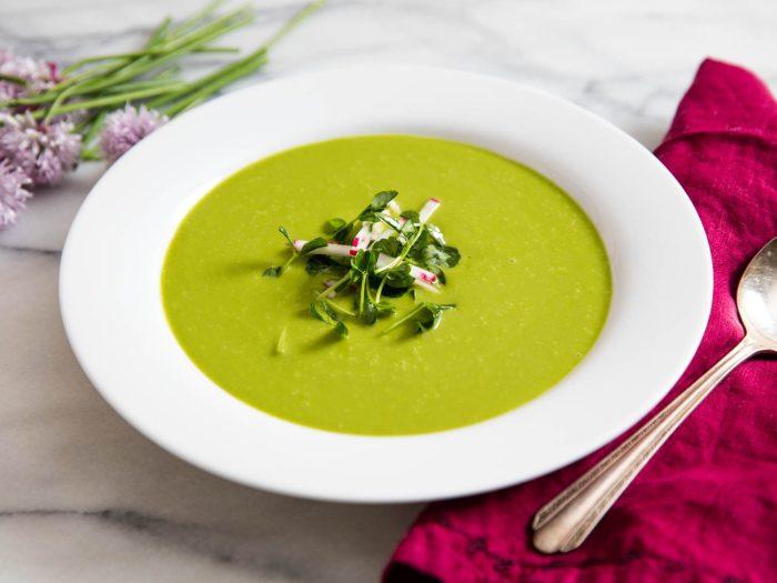 Гороховый крем-суп. / Фото: seriouseats.com.