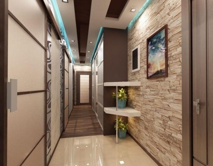 в узкой прихожей мебель должна быть не квадратная, а длинная и узкая.