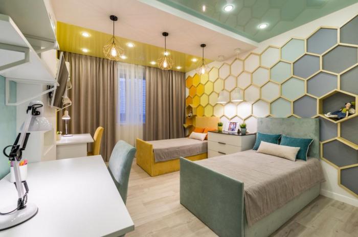 Современный дизайн детской и подростковой комнаты.