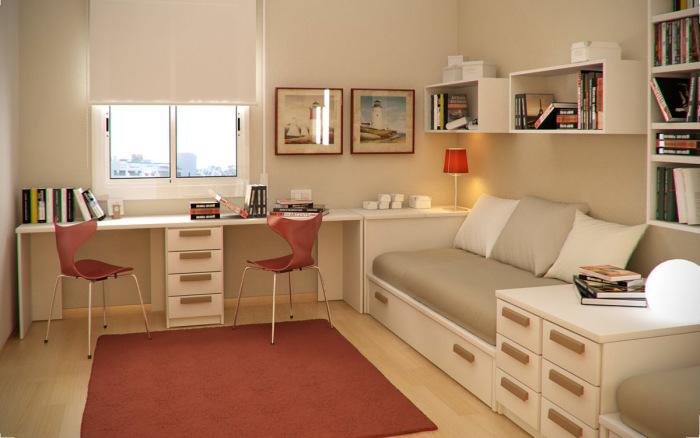 Для создания уютных и комфортных условий - достаточно многофункциональной мебели.