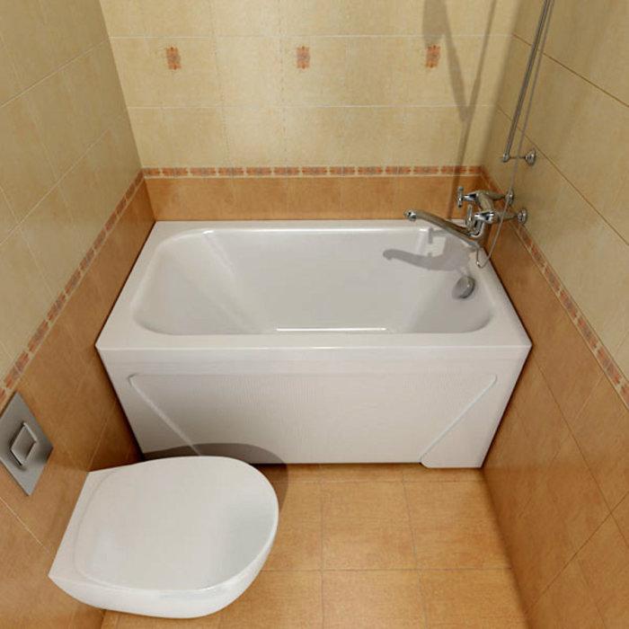 Если в квартире туалет с ванной совмещенные, то унитаз там так же обязателен. Такое смелое решение - идеальный вариант для современной хрущёвки.