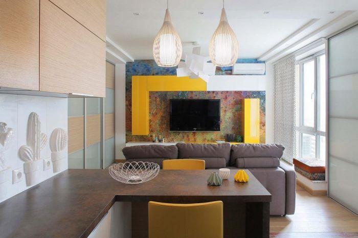 Создаём уют в небольшой квартире, расширяя площадь при помощи объединения помещений.