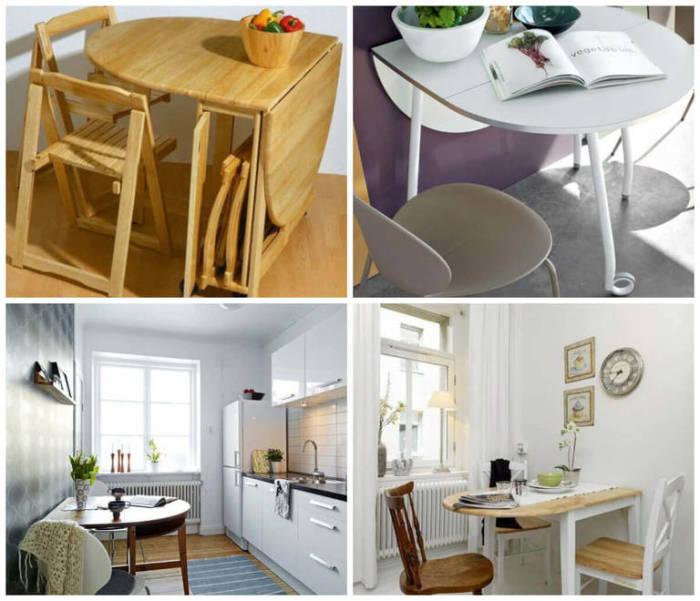 Столы-трансформеры - то, без чего не обойтись на маленькой кухни.