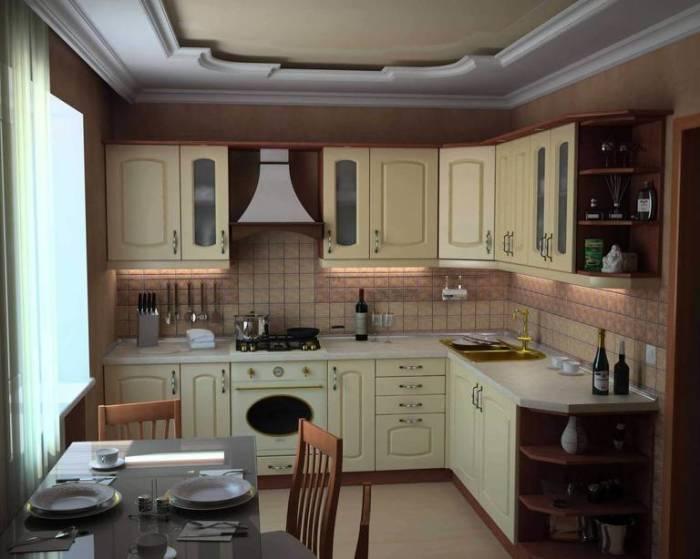 Современная кухня, выполненная в традиционном классическом стиле.