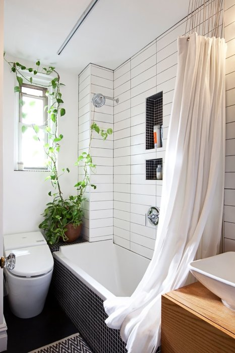Дизайн небольшой ванной комнаты.