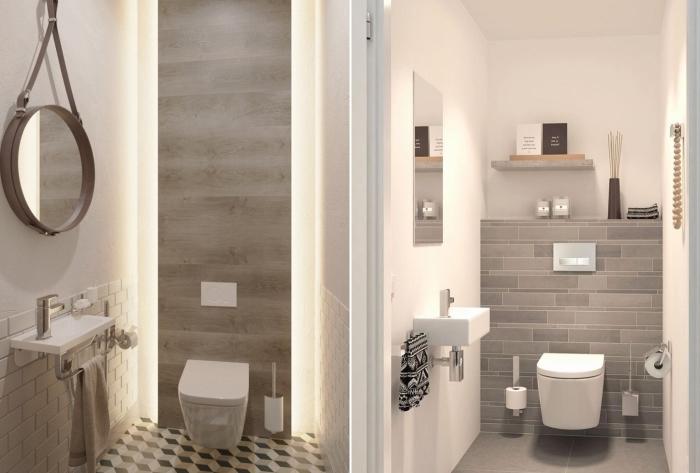 Сдержанный декор туалета. / Фото: pinimg.com.