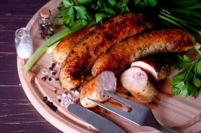 Домашняя колбаса из курицы. \ Фото: liveinternet.ru.