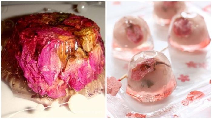 Желе из розовых лепестков. \ Фото: pinterest.com.