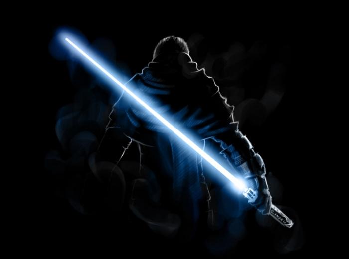 Световой меч. \ Фото: dnpr.com.ua.