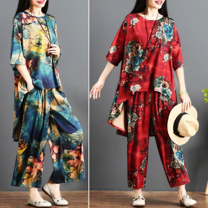 Шёлковые костюмы с цветочным принтом. \ Фото: 91taohuo.com.