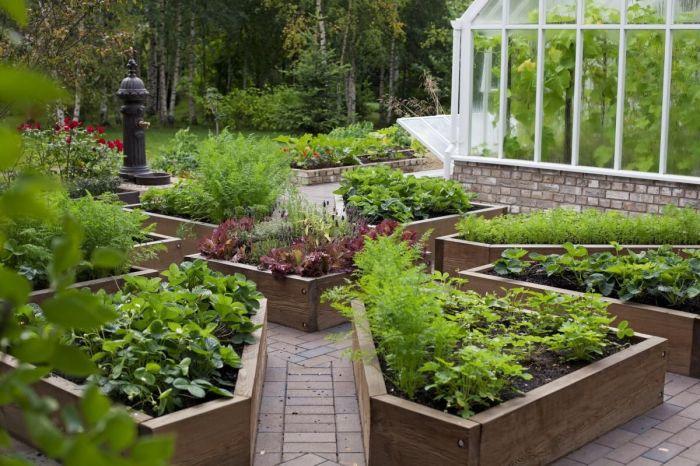 Декоративный огород. \ Фото: pinterest.com.