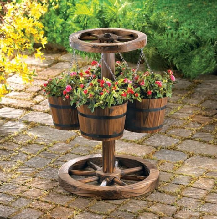 Оригинальный садовый декор. \ Фото: google.ru.