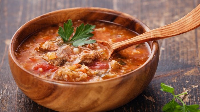 Острый, пряный и невероятно вкусный грузинский суп. \ Фото: smachno.24tv.ua.