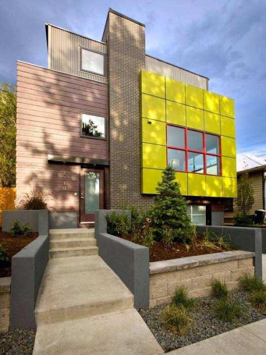 Дом в стиле хай-тек из сип-панелей.