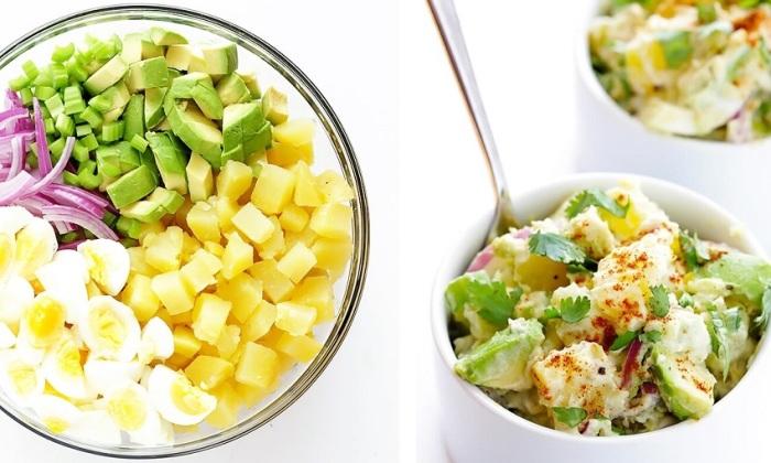 Салат с авокадо, сельдереем и картошкой. \ Фото: receptomio.info.