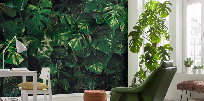 Растительный принт. \ Фото: komar.de.