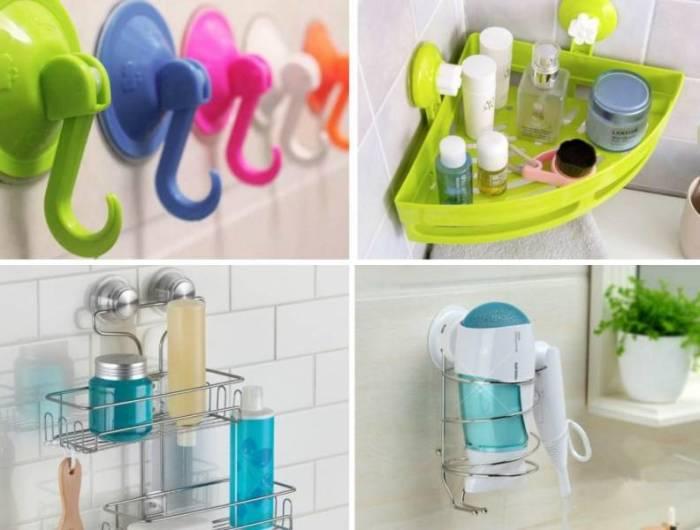 Самоклеящиеся крючки и приспособления для дома. \ Фото: chistodoma.com.