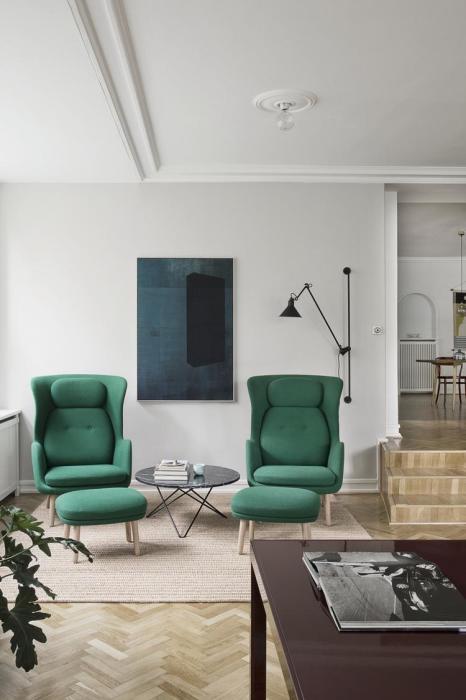 Выбираем мебель в зелёных тонах и оттенках.