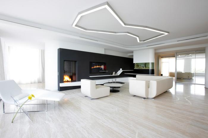 Данное сочетание цветов можно использовать не только для гостиных, а и для любых других комнат, в том числе и квартир-студий.