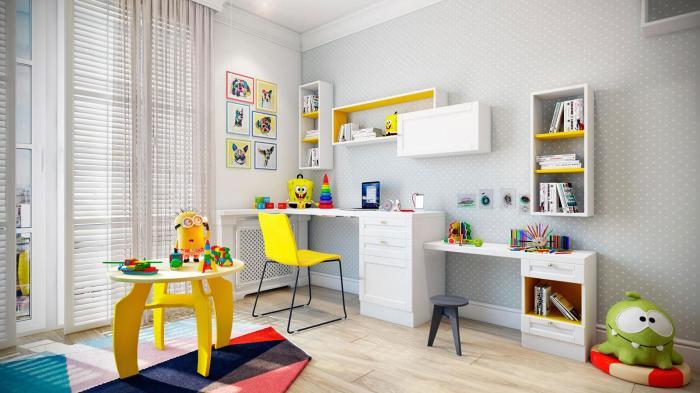 Обеспечить позитив и хорошее настроение в детской комнате помогут не только яркие игрушки, а и мебель.