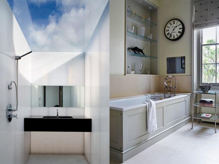 Нетривиальные идеи для стильного дизайна маленькой ванной комнаты.