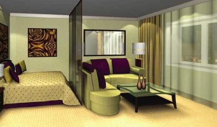 Дизайн спальни гостиной в маленькой квартире в хрущёвке.