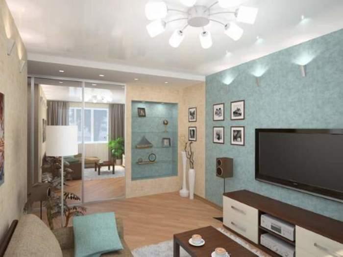Дизайн маленьких комнат в квартире - гостиная в хрущёвке.