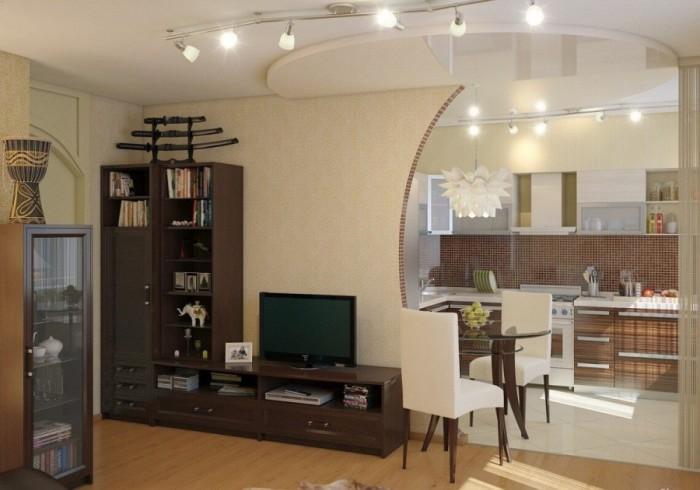 Для однокомнатных квартир решением может стать создание квартиры-студии – когда сносят все перегородки и объединяют комнату с кухней и прихожей.