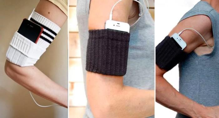 Карман-манжет для мобильного телефона. \ Фото: lavozdelmuro.net.
