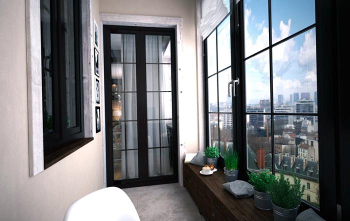 Идеи дизайна балкона. \ Фото: domazon.ru.