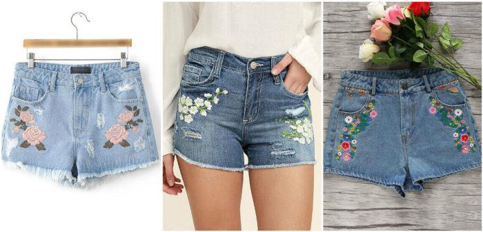Модные шорты из старых джинсов. \ Фото: stranahandmade.net.