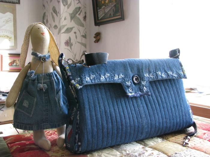 Джинсовая сумка. \ Фото: google.com.