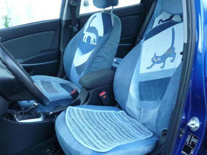 Джинсовые чехлы для автомобилей. \ Фото: stafia.ru.