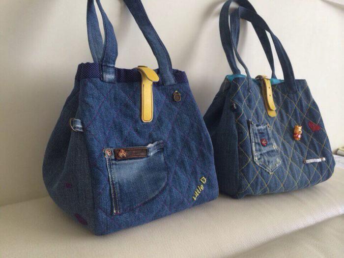 Оригинальные джинсовые сумки своими руками. \ Фото: pix-feed.com.