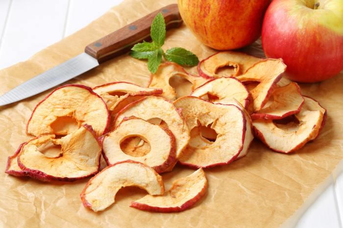 Чипсы из яблок. \ Фото: acironline.mx.