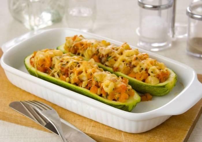 Очень вкусные фаршированные кабачки. \ Фото: cookpad.com.