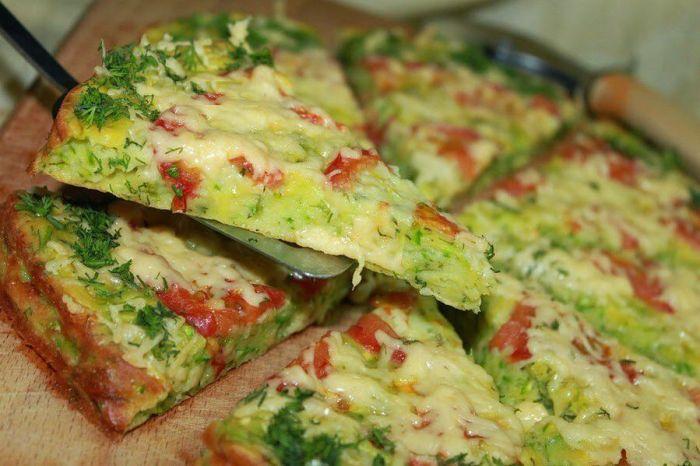 Кабачковая пицца. \ Фото: google.com.