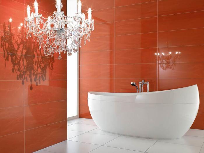 Терракотовая керамическая плитка для ванной.