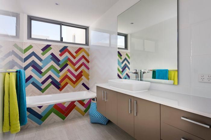 Современный дизайн ванной комнаты.