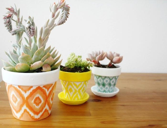 Эти разноцветные горшочки ежедневно будут поднимать настроение своими яркими и сочными цветами.