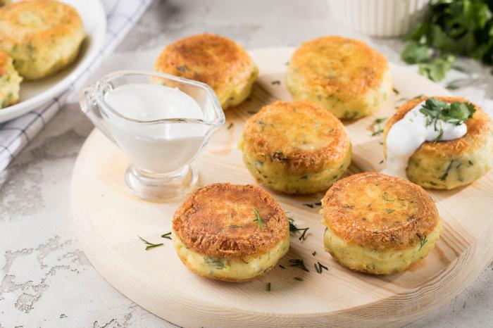 Картофельные котлеты с сыром. \ Фото: zira.uz.
