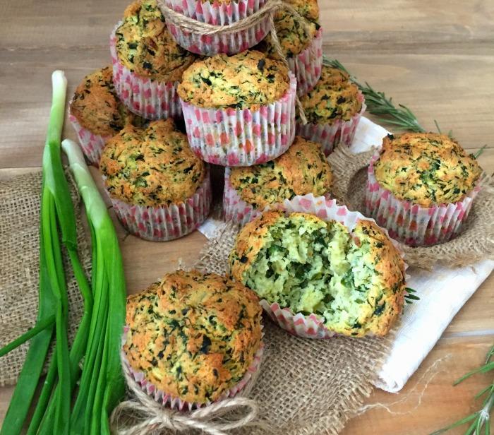 Кексы со шпинатом и сыром. \ Фото: google.com.