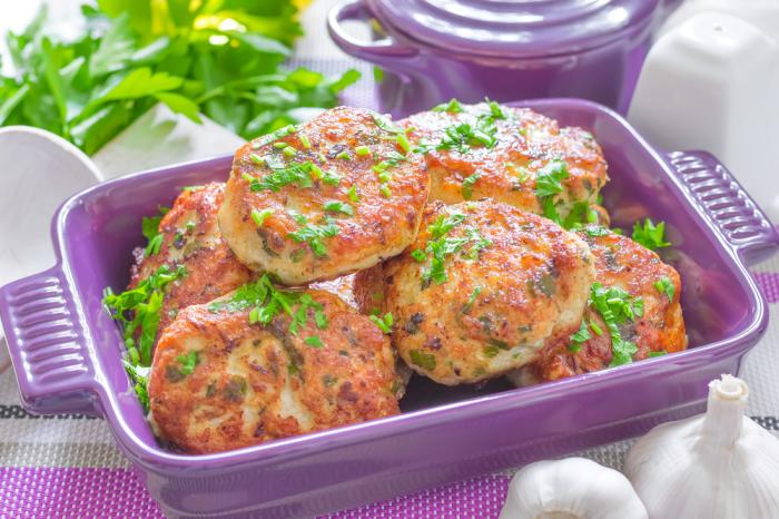 Куриные котлеты с баклажанами. \ Фото: food.inmyroom.ru