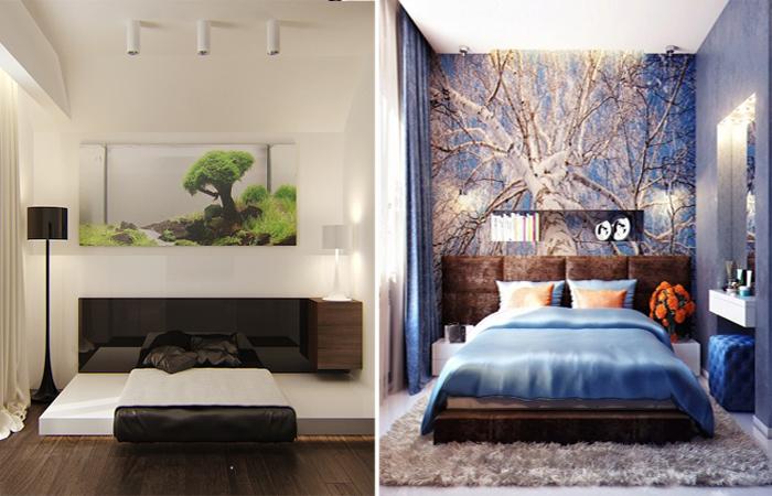 Современные иди идеи по обустройству маленькой спальни.