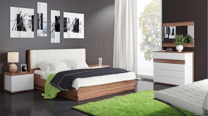 Комбинированная мебель идеально впишется в интерьер любой спальни.