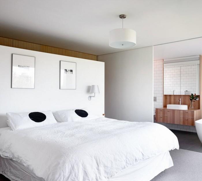 Стиль минимализм - лучшее решение для спальни.