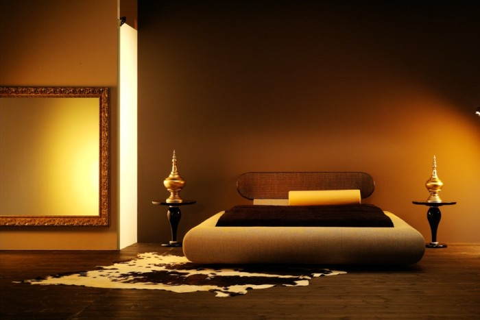 Оформление спальни в восточном стиле.