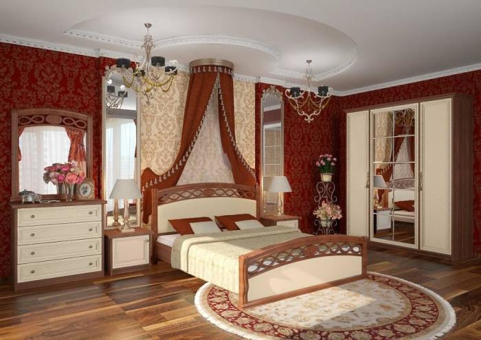 Спальня в историческом исполнении.
