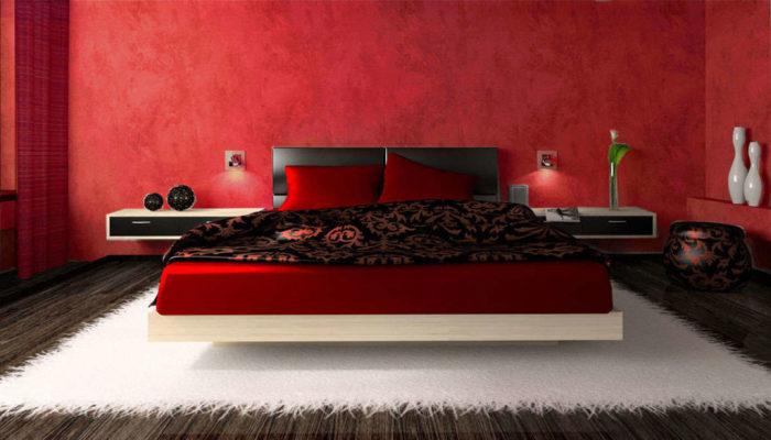 Для страстных и темпераментных натур подойдут роскошны обои благородных красных оттенков и цветов.