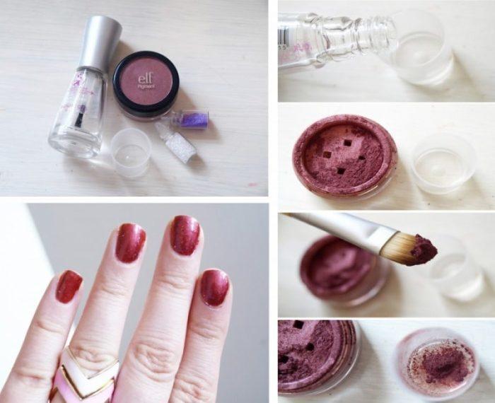 Просто добавь тени в  прозрачный лак для ногтей. \ Фото: clubsamodelok.ru.